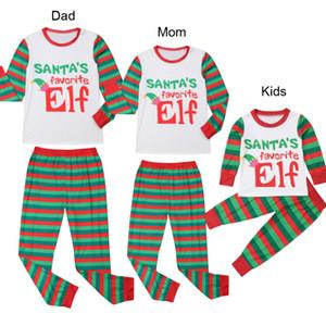Matching Natal da família Pijamas Set Womens Mens miúdos criança Carta Xmas Imprimir Top + Pant Pijamas Roupa de Noite Outfit