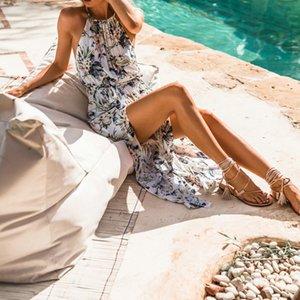 JAYCOSIN 새로운 인기있는 여성의 드레스 여름 인쇄 분할 앙 섹시한 패션 보헤미안 맥시 파티 비치 꽃 긴 Womwen 드레스 (40) *
