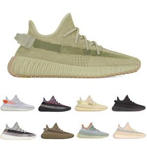 상자 2020 실행 신발 쇠 찌끼 얼룩말 테일 라이트 지구 아마 Israfil 리넨 Yecheil 카니 예 웨스트 (Kanye West) 스니커즈 최고 품질 남성 여성 신발
