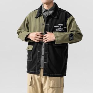 2020 Men's Contrast Color Stitching Design Jacket Plus Size Jacket Male Spring Autumn Fashion Jacket Outerwear Casual Coat Size M-5XL