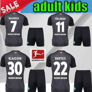 kids adult 20 21 SV Werder Bremen third PIZARRO OSAKO Soccer Jerseys 2020 2021Werder Bremen black HARNIK KRUSE RASHICA child Football shirts