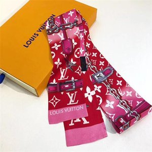 2020 Brand new printed pure silk scarf bow tie bag accessories ribbon fashion luxury men and