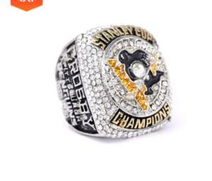 Чудесная низкая цена высокого качества свободная перевозка груза 2pcs / Lots Хоккейный чемпион матч мужской кольцо 2016