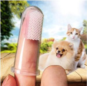 Heimtierbedarf Hund Katze Spielzeug weiche Finger Pinsel Hund Zahnbürste Mundgeruch Dental Care Tartar Haustier Hund Katze Reinigungswerkzeug Freies Verschiffen