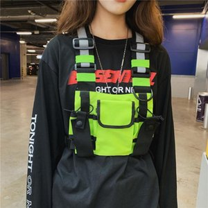 Men Women Chest Rig Bag Hip Hop Reflective Streetwear Vest Functional Harness Chest Bag Pack Front Waist Pouch Backpack