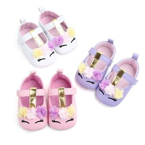 Fashion Baby Shoes Cute Cartoon Pattern PU Leather Anti-slip Soft Sole Baby Crib Shoes Infant Toddler Girl Footwear