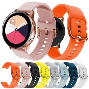20 mm Ancho de banda de repuesto para Samsung Gear, SportGalaxy reloj Activo / Huawei Watch / SUUNTO 3 IDONEIDAD correa 2 / muñequera banda 2 de silicona suave