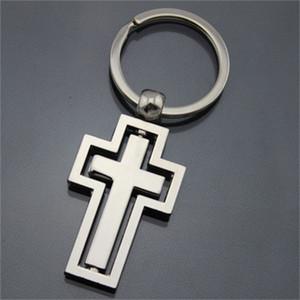 Cross Key Ring Métal Originalité clés Rotatif Boucle Eglise Parti cadeau Faveur Accueil Car Design Portable Populaire 2 5 kD H1