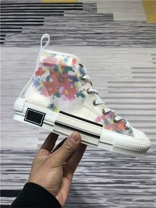23 Wholesale Flowers Technical Canvas B Low Top In Oblique Mens Brand Designer Womens Fashion Sneakers Boots Outdoor Shoes