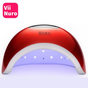 ViiNuro 72W Lampada UV LED Lampada chiodo per unghie Asciugatrice per tutti i gel Polish Sun Light Sensore a infrarossi 10/30 / 60s Timer Smart per manicure C19011401