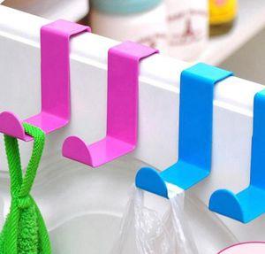2pcs 1lot crochet en métal en acier inoxydable Z forme de porte bureau Hanger Cabinet pour vêtements Torchon Hanger Porte KKA7921