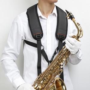 Pelle professionale Harness imbottito sassofono tracolla per Baritono Alto Tenore Sax Soprano musica Accessori Nero