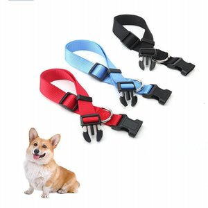 Nylon Dog Pet Collar Necklace Breathable Durable Adjustable Safety Buckle Leash Dogs Cat Necklace Solid Pet Collar