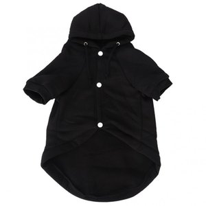 Hot Dog Hoodies Black Cotton Pet Winter Warm Costume Hoodie Leisure Coat Clothing Clothes with Buckle for Dogs Cats Cute Dog