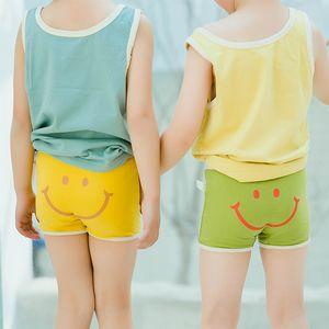 Underwear Crianças Cotton Panties Shorts criança Meninas tanga Meninos Lutadores de boxe bebê curtos resumos novas crianças das crianças do sorriso bonito Cuecas