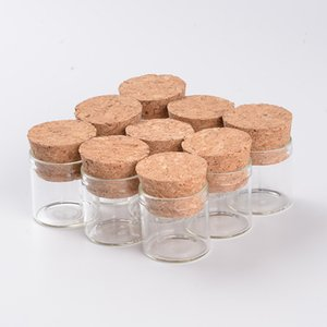 5ml Small Glass Vials Jars Bottle With Corks Stopper Empty Glass Transparent Clear Mason Jars Bottles Wedding Gift 100pcs