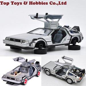 Back To The Future versione Fly 1/24 della scala del metallo della lega modellini auto Modello Parte 2 1 3 Time Machine DeLorean DMC-12 Modello giocattolo T200110