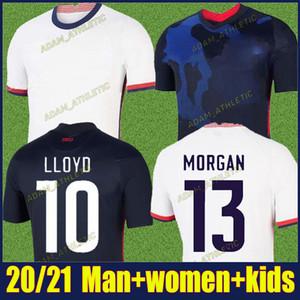 2020 dell'America maglia da calcio DEMPSEY PULISIC calcio bambini camicia kit Stati Uniti 4 stelle donne Divisa Rapinoe MORGAN uniforme 20/21