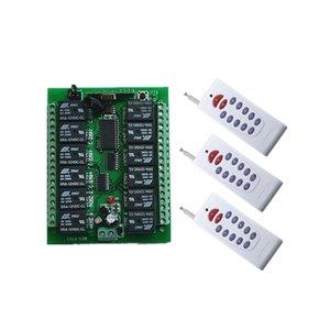 DC 12V 24V 36V 48V 12 CH RF беспроводной пульт дистанционного управления огни выключатель системы 12CH 10А реле приемника +12 Кнопка