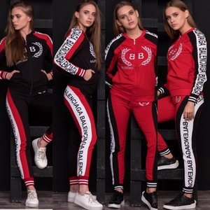 Trajes Ladies'Sports Traje auto-cultivo Ocio Deportes Dos Negro, rojo y blanco Tres colores liberan de la carga NO.8S