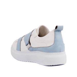 Moxee-Beyaz Mavi Adım Kadınların 'S Günlük Casual Ayakkabı