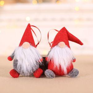 Venda quente de Natal Decor Xmas Party boneca Ornamentos Plush Tomte Doll Decoration Início de casamento por Kid Red Xmas Tree Ornament DHL WX9-1694