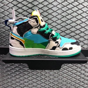 Children Chunky Dunky 1s Basketball Shoes Ice Cream SB Dunk Running Shoes boy girl Sports Sneakers Size 28-35