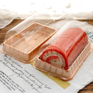 50PCS لفة منشفة مربع التعبئة القذرة مربع لفة المعجنات السويسري كعكة الخبز نفطة شحن مجاني
