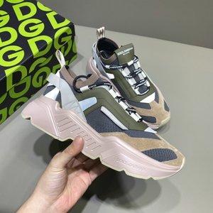erkekler koşucular için DAYMASTER SNEAKERS İÇİNDE STRETCH ÖRME Tasarımcı spor ayakkabıları eğitmenler ayakkabılar Gerçek Deri marka yarışçı lüks ayakkabı yassı