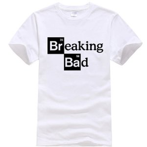 Homens camisetas Walter White Tops Cotton O-Neck Heisenberg Homens T-shirt de manga curta Casual Breaking Bad Imprimir T Shirt For Men