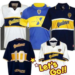 97 98 Boca Juniors camiseta de fútbol retro Maradona Caniggia Vintage 1997 1996 1998 Classic Football Shirts Maillot Camiseta de Futbol 2005