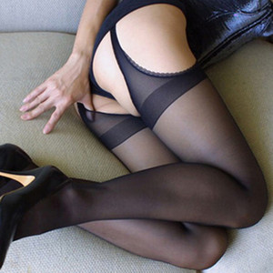 Ouvrez collants Crotch Bas jarretelle Ultrathin Off Gratuit Bas Sexy Lingerie Chaussettes Sous-vêtements Vêtements Femme Drop Ship 410005