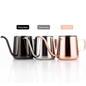 250 / 350ml Stainless Steel Gooseneck despeje sobre Chá Hanging Ear Drip Coffee bico longo Pot Tea Kettle