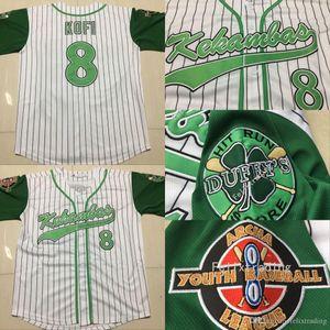 Kofi 에반스 8 Kekambas 야구 유니폼 ARCHA 및 더피의 패치 자수 유니폼 Kekambas 야구 유니폼