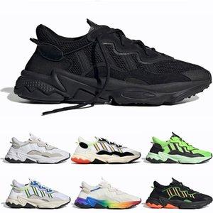 Adidas Ozweego adidas shoes 2020 Тройной черный Ozweego для мужчин женщин случайные обувь Жирный оранжевый неоновый зеленый Солнечные Желтые Хэллоуин Тональные Основные черные