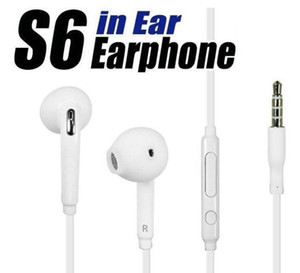 dhl 3.5mm In-Ear Wired Earphones Earbuds Headset With Mic and Remote Volume Control Headphones For Samsung Galaxy S6 S8 S9 Without Packaging