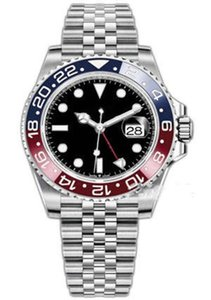 Top maître rend les hommes de mode de luxe 126710 40mm bague en céramique en acier inoxydable Montre bracelet mécanique automatique hommes imperméable à l'eau