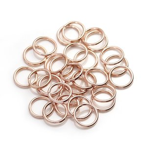 XINYAO 200pcs lot 4 6 8 10 mm Metal Jump Rings Silver Gold Bronze Color Split Rings Connectors For Diy Jewelry Finding Making