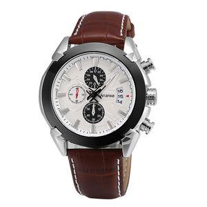 AN14 Multifunktions - Sportuhr der Männer Kreuz - Grenze der heiße Art wasserdicht echte Lederband Quarz-Uhr-AN14