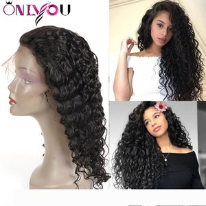 Onlyou Hair@ Brazilian Body Deep Wave Lace Front Human Hair Wigs For Black Women Natural Hairline Human Hair Full Lace Wigs With Pre-Plucked