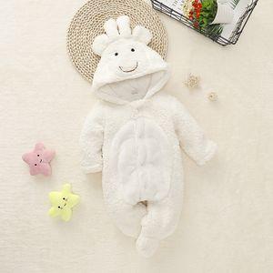 Emmababy Newborn ragazza del neonato agnello sveglio vestiti giù pagliaccetto tuta calda del tasto 3D bella abiti invernali