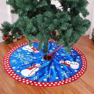 Nuovo pupazzo di neve Christmas Tree Skirt 80CM Christmas Tree Grembiule Di alta qualità flanella Albero di Natale ornamenti Gonna
