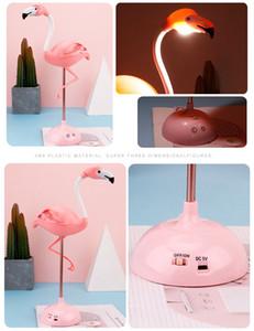 LED de luz de la noche del flamenco táctil lámpara de mesa de lectura para niños de carga USB de la sala de dibujos animados bebé dormitorio ligera de la decoración de iluminación FFA3765-2