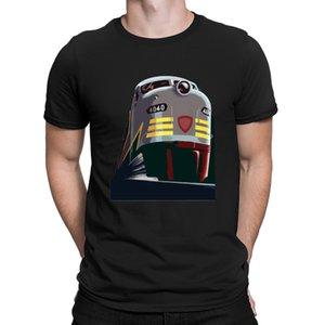 Train Retro Rocky Mountains Western Railway Tshirt Fitness Designing Fun T Shirt For Men Summer Top Sunlight Cotton Simple