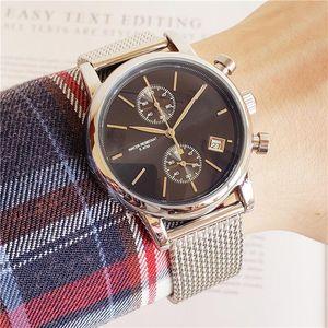 Boss Watch Luxury Mens Relojes 40mm Cronómetro de cuarzo Todas las funciones Relogio All Pointers Work Deisgner Hombre impermeable Relojes con cronógrafo