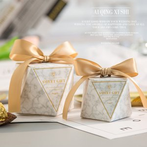 20 50 100Pcs Marble Diamond Wedding Favor Sweet Gift Bags Candy Box for Wedding Baby Shower Birthday Guests Event Party Supplies