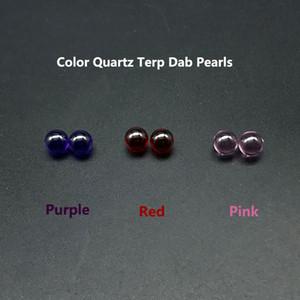 Beracky красочные кварцевые терпкий Dab жемчуг с 6 мм розовый красный фиолетовый Терпа бусины Dab аксессуары для курения кварцевые шарики для кварцевого фейерверка в качестве подарка