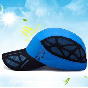 Traspirante ad asciugatura rapida Cappelli Mesh Hat Mesh Unisex Outdoor Sports Cap Arrampicata esecuzione Cap Summer Sun Pesca Turismo Protezione