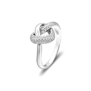 2019 Mother's Day 925 Sterling Silver Rings Knotted Heart Ring Original Fashion Engagement wedding Pandora Rings DIY Charms For women