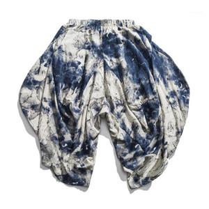Pants Summer Nine Points Floral Men Trousers Pants Loose Fashion Casual Hip Hop Vintage Streetwear Chinese Style Men